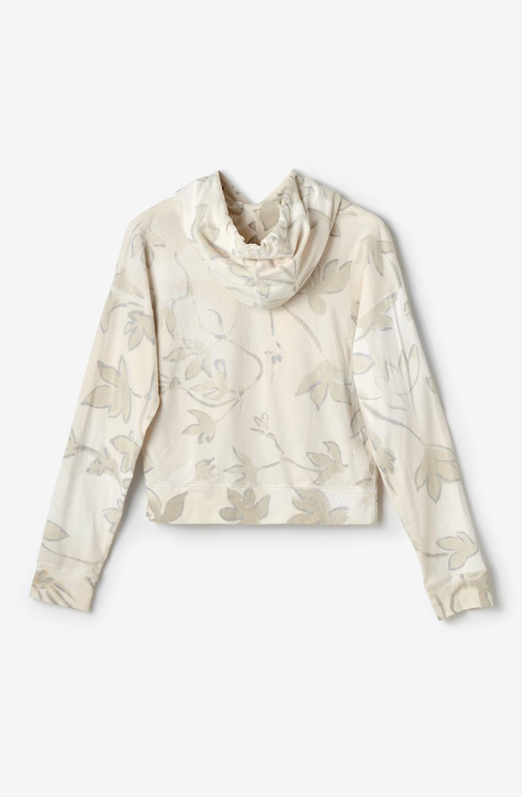 Alabama chanin womens organic cotton floral hoodie leisurewear 2