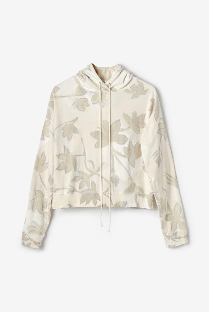 Alabama chanin womens organic cotton floral hoodie leisurewear 1