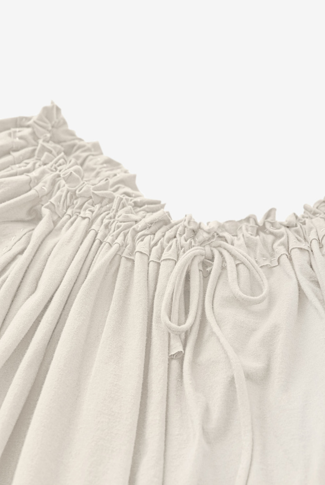 Alabama chanin womens organic cotton gathered top %281%29