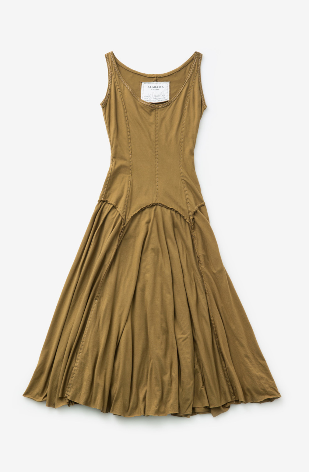 Alabama chanin womens organic cotton garter dress