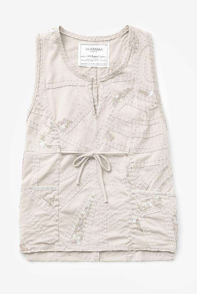 Alabama chanin womens organic cotton smock wrap tank