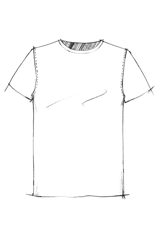 The school of making unisex t shirt pattern 2
